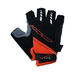 Rękawiczki rowerowe vivo czarno-pomarańczowe sb-01-5021