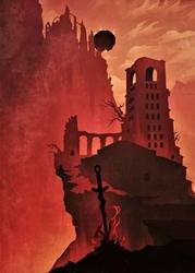 Dark souls - the kingdom of lothric - plakat