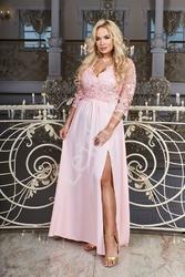 Wieczorowa sukienka plus size chantell 34, jasny róż