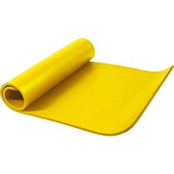 Mata do ćwiczeń fitness jogi duża 190x100x1,5cm antypoślizgowa żółta