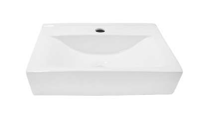Umywalka Clara nablatowa prostokątna biały