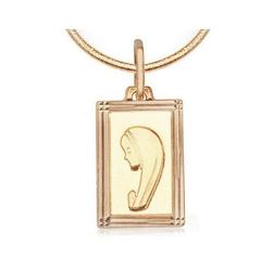 medalik złoty z Maryją