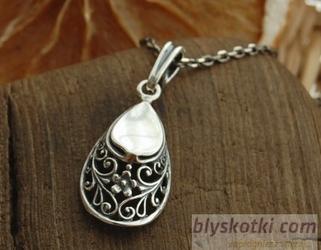 GRETA - orientalny srebrny wisiorek