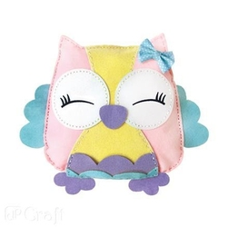 Ozdobna poduszka z filcu SOWA - Sweetie - SWE