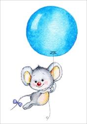 Plakat dla dzieci myszka p016