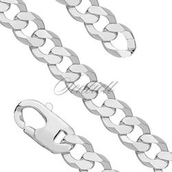 Bransoletka - pancerka diamentowana płaska pr. 925 - 14,0 mm