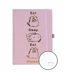 Pusheen Eat Sleep Repeat - notes A5