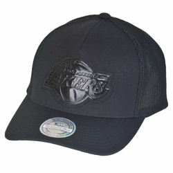 Mitchell  Ness Los Angeles Lakers Trucker Snapback - MN-NBA-INTL307-LALAKE-BLK-OS