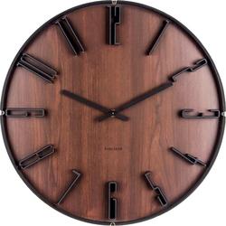 Zegar ścienny Sentient ciemnobrązowy