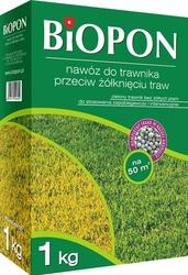 Biopon, nawóz granulowany do trawnika przeciw żółknięciu, 1kg