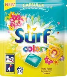Surf, Fruity FiestaSummer Flowers, kapsułki do prania tkanin kolorowych, 15 sztuk
