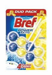 Bref Power Aktive Lemon, zawieszka do toalety 50g, 2 sztuki