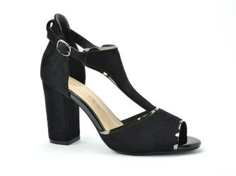 Sandały Sergio Leone SK854 czarny zamsz