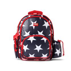 Duży plecak z kieszeniami granatowy w gwiazdy Penny Scallan