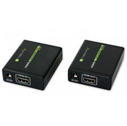 Techly Extender HDMI po skrętce Cat.66a7, do 60m, FullHD 3D, czarny