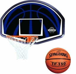 Tablica do koszykówki obręcz Lifetime Dallas 90065 + Piłka do koszykówki Spalding TF-150