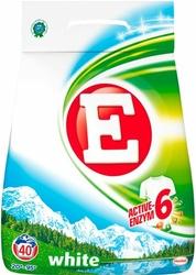 E, White, Soft, proszek do prania tkanin białych, 40 prań, 2,8 kg