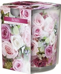 Bispol, sn72s, Świeca zapachowa w szkle, Róże, 1 sztuka
