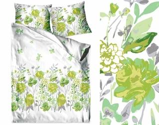 FLO ZIELONA pościel bawełniana Bielbaw - zielony