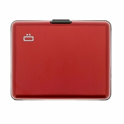 Portfel Aluminiowy Ogon Designs Big Stockholm - Red RFID Protect - Red