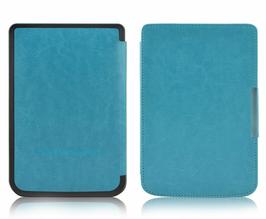 Etui na magnes do PocketBook touch LUX 23 626 624 614 niebieskie - Niebieski