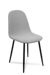 Krzesło Timor hexagon srebrny czarny - szary