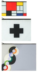 Saszetki Zip Pockets Museum 3 szt. Mondrian