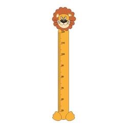 naklejka miarka wzrostu lew 35