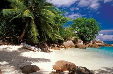 Seychelles, plaża - fototapeta