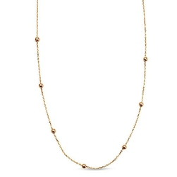 naszyjnik łańcuszkowy złoty z kuleczkami