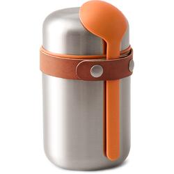 Termos obiadowy stalowy 400 ml Black Blum pomarańczowa łyżka BAM-FF-S003