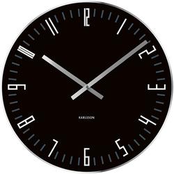 Zegar ścienny Slim Index Karlsson czarny KA4922