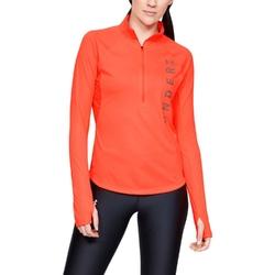 Bluza damska ua speed stride split wordmark half zip - pomarańczowy