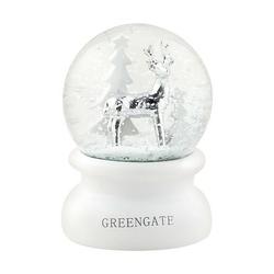 Śnieżna kula biała s green gate