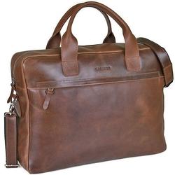Skórzana torba męska na laptopa 17 brodrene r03xl jasnobrązowa - j. brązowy