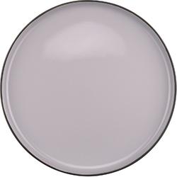 Talerz płaski, porcelanowy, szary time verlo 26 cm v-80002-4