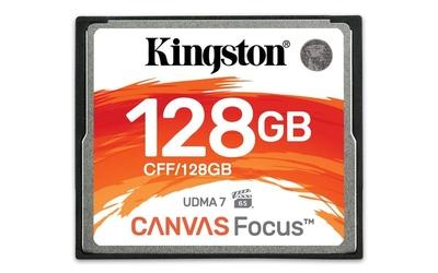 Kingston karta pamięci compactflash canvas focus 128gb  150r130w udma7 vpg-65