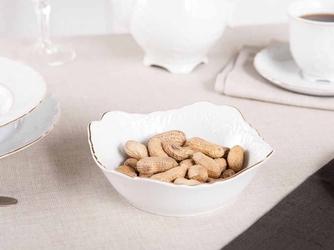 Salaterka kwadratowa porcelana ćmielów rococo 3604 14 cm