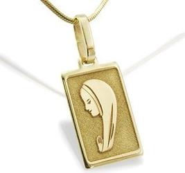 Medalik z żółtego złota med-1-1 - ok. 20,5 mm x 8,8 mm