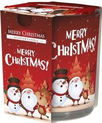 Bispol, sn72s, świeca zapachowa w szkle, wesołych świąt, 1 sztuka