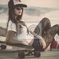 Fototapeta dziewczyna skater