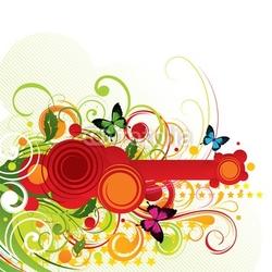 Fotoboard na płycie wegetatywna kompozycja z motylami