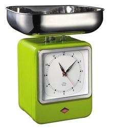 Waga kuchenna z zegarem Retro zielona