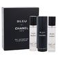 Zestaw chanel bleu de chanel twist and spray perfumy męskie - woda perfumowana 3x20ml