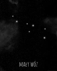 Mały wóz konstelacja gwiazd - plakat