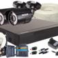 Zestaw 4w1, 2x Kamera 5MpxIR20, Rejestrator 4ch + Dysk 1TB - Szybka dostawa lub możliwość odbioru w 39 miastach