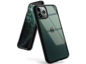 Etui ringke fusion do apple iphone 11 pro smoke black + szkło alogy - czarny