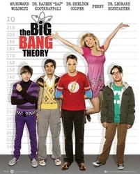 The big bang theory line up - plakat
