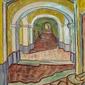 Corridor in the asylum, vincent van gogh - plakat wymiar do wyboru: 30x40 cm