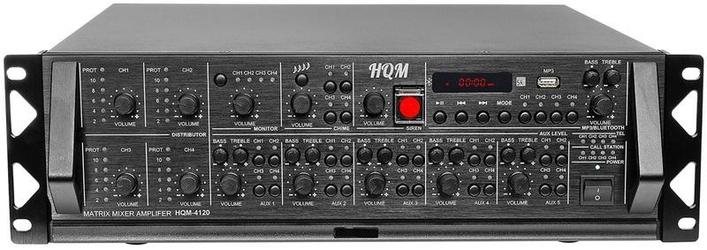 Wzmacniacz PA HQM4120 4x120W 4-strefowy - Szybka dostawa lub możliwość odbioru w 39 miastach
